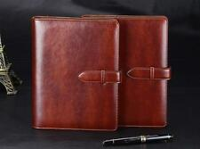 A5 Brown Journal Written Business Diary Book Embossed Leather Notebook G