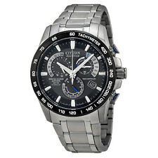 Citizen AT4010-50E Eco-Drive Perpetual Chronograph Titanium Mens Watch