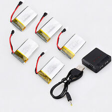 5PCS 3.7V 720mAh Batteries+5 in 1 Charger For  RC Drone Syma X5C X5SW X5SC
