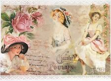 Rice Paper for Decoupage Decopatch Scrapbook Craft Sheet The Ladies and Roses
