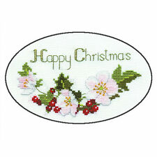 Derwentwater Designs Christmas Cross Stitch Card Kit - Christmas Rose