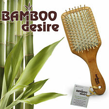 Natural large paddle High Quality bamboo wood massage hair brush comb