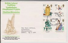 (JO-56) 1976 GB FDC 4stamps British culture used (56BC)