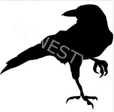 Crow Raven Blackbird Sticker Car glass mirror window laptop floor wall van decal