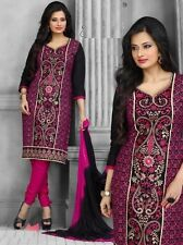 Radiant Cotton Embroidered Dress Material With Chiffon Dupatta D.NO P9195