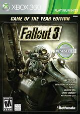 Fallout 3 Game of the Year Edition XBOX 360 NEW! WORKS ON XBOX ONE! BATTLEFIELD