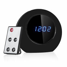 MULTI-FUNCTION CLOCK HIDDEN CAMERA WIDE ANGLE LENS MOTION DETECT REMOTE CONTROL