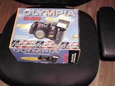 NEW OLYMPIA DELUXE CAMERA SET SELF-TIMER us-5000 35MM CAMERA Box bag Flash
