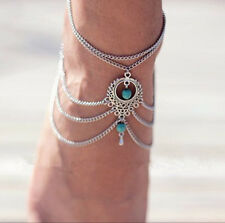 Boho Turquoise Anklet Tibetan Chains Barefoot Ankle Bohemian Beads