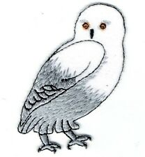New Iron-On Applique Embroidered Patch - Arctic Brid - Snowy Owl