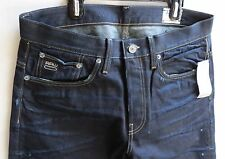 G-star Raw Men Jeans 3301 Straight 33 W x 32 Dark Aged Brand New with Tags