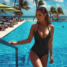 Sexy Women Hollow One-Piece Push Up Bikini Swimwear Bandage Monokini Swimsuit