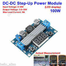 100W DC-DC Boost Step up Converter 3V-35V to 3.5-35V Power Supply LED Voltmeter