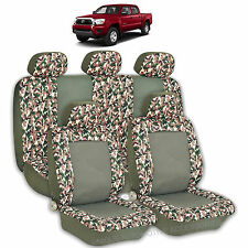 2 TONE GREEN CAMO HIGH QUALITY FRONT REAR SEAT COVERS 9PC SET FOR TRUCKS 2769
