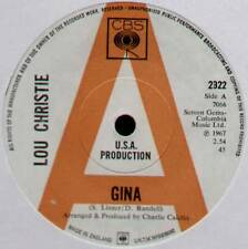 "LOU CHRISTIE ~ GINA / BACK TO THE DAYS OF THE ROMANS ~ 1967 UK ""PROMO"" 7"" SINGLE"