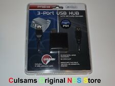 PS3 3-Port USB Hub with SD Card Reader also Compatible with PS4 & PC