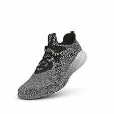 NEW adidas Men's Alpha Bounce Running Sneakers - Black/White/Crystal - Sz: 11