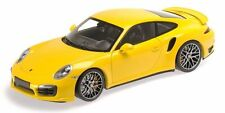 MINICHAMPS 2013 Porsche 911 (991) Turbo S Coupe YELLOW/SILVER WHLS 1:18*New Item