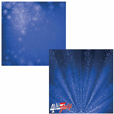 Reminisce MAGICAL NIGHT 4TH OF JULY 12x12 Dbl-Sided (2)PCS Scrapbooking Paper
