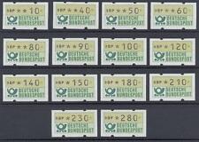 BRD Automatenmarken VS1 mit Nummern xx, #d890