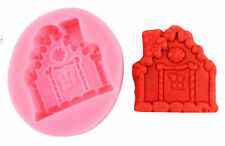 Gingerbread House Cottage Christmas Pink Silicone Mold for GP Fondant Chocolate