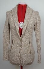 J. Crew Brown Beige Tan Marled Wool Blend Shawl Collar Cardigan Size Small NWOT