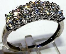 Ring Size 7 in Platinum Overlay Sterling Silver with SWAROVSKI ZIRCONIA 2.8 Cts