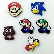 Children Party Gifts 6pcs PVC Fridge Magnet Super Mario Bros Magnetic Sticker