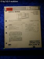 Sony Service Manual FH 209W Compact Component System (#3348)