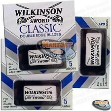 3pk 15pc Double Edge Wilkinson Sword Safety Razor Blade Replacement fit Gillette