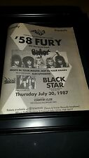 '58 Fury And Warrant Rare Chuck Landis Concert Promo Poster Ad Framed!