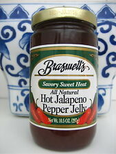 NEW BRASWELL'S BRASWELLS ALL NATURAL HOT JALAPENO SAVORY SWEET PEPPER JELLY 10.5