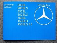 Mercedes-Benz SL und SLC Typ 107  Bedienungsanleitung Betriebsanleitung 1979