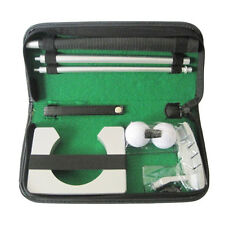 Portable Indoor Golf Putting Practice Kit Ball Putter Travel Training Set New