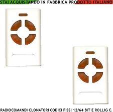 RADIOCOMANDO UNIVERSALE 2 PEZZI COPIA F 433,92 MHz 4 CODICI ROLLING CODE 12/64 B