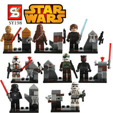 8 Pc MINI FIGURES FIT WITH LEGO STAR WARS CLONE TROOPERS EMPIRE JEDI THE FORCE