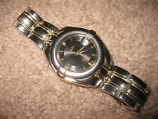 Mens John Weitz Watch Silver & Gold Colored Diamond Quartz Stainless Steel