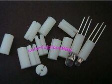 100pcs, White Plastic Led Holders Cover Holder for 3mm/5mm 3-Pin 3-Lead Leds LED