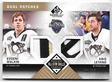 2016-17 SP Game Used EVGENI MALKIN & KRIS LETANG Dual Jersey Patch ALL STAR /25
