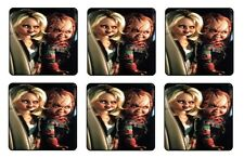 "BRIDE OF CHUCKY COASTERS 1/4"" BAR & BEER SET OF 6"