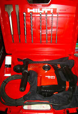 HILTI TE 30-C AVR HAMMER DRILL, PREOWNED MINT CONDITION, FREE 2 CHISELS & 6 BITS