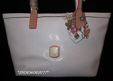 GUESS FROSTED Bag PurseTote Signature Logo Flower Lock Heart Charm Genuine New