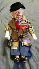 """Brinns PGH PA Clown Doll VINTAGE  Collectible Porcelain Limited Edition 14 1/2"""""""