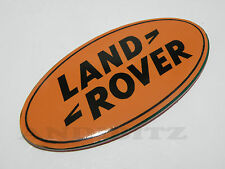 LAND ROVER DISCOVERY 2 3 DISCO D2 SUPERCHARGED ORANGE FRONT GRILL BADGE GRILLE