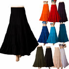 New Womens long Maxi Skirt Gypsy tiered Boho Stretch size 8 10 12 14 16 18 20 22