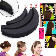 3PCS Women Volume Hair Base DIY Bump Styling Clip Stick Bun Maker Insert Tool JS