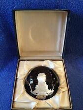 BACCARAT LIMITED EDITION JAMES MONROE SULPHIDE CAMEO PAPERWEIGHT