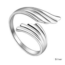 Chic Fashion Silver Double Angel Wings Opening Adjustable Ring Gift Jewelry