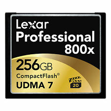 Lexar UDMA 7 256GB 800x CF Compact Flash Memory Card Camera DSLR VPG-20 120MB/s