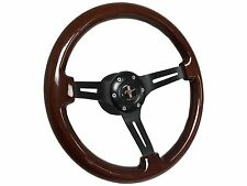 1964 - 1966 Ford Mustang Mahogany Wood Steering Wheel Kit, Hub & Pony Emblem